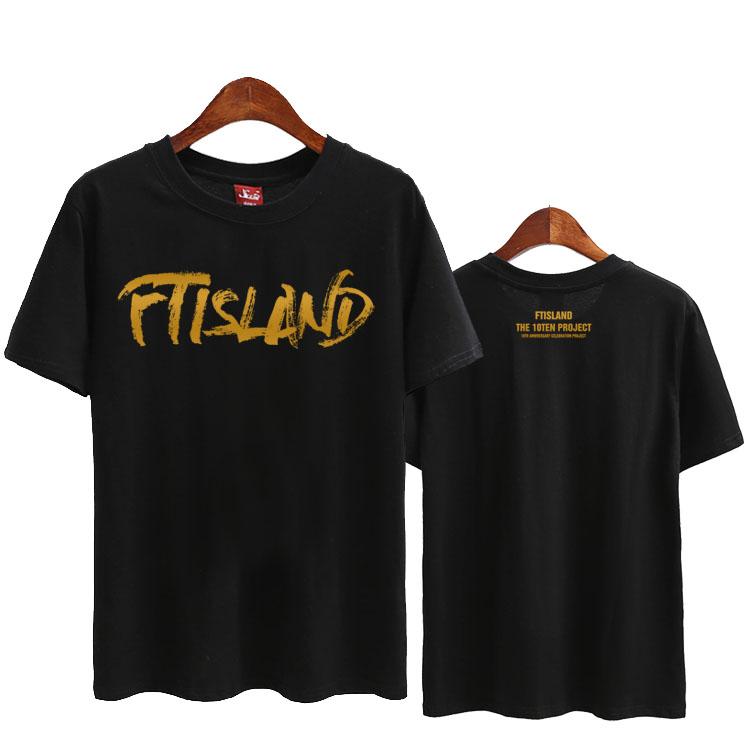 [해외]Ftisland 10 년 이상 새 앨범 인쇄 여름 스타일 셔츠 용 반팔 티셔츠 인쇄 넥 10 년/Ftisland 10 years new album over 10 years printing o neck short sleeve t-shirt for summer st