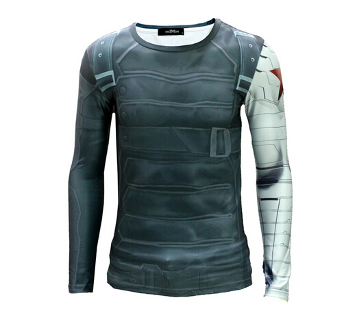 [해외]New Marvel avengers deadpool / captain america 압축 티셔츠 망 빠른 건조 피트니스 의류 스타킹/New Marvel avengers deadpool/captain america compression t shirt mens qu