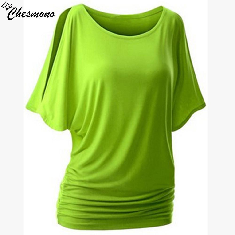 [해외]짧은 길이의 캐주얼 셔츠를 입는 여성을홈 t- 셔츠 컷 아웃 오프 o-nect 반팔 Dolman Drape Loose Tunic Top/home top for women t shirt plug size loose casual simple Cut Out Off S