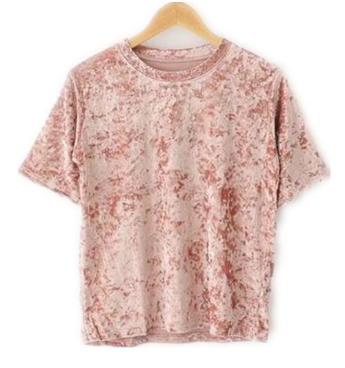 [해외]2017 여성 패션 벨벳 티셔츠 하라주쿠 펑크 록 티셔츠 여성 캐주얼 반Retail 벨벳 탑 여름 hipster 옷/2017 women fashion velvet t shirt harajuku punk rock tee shirts womens casual sho