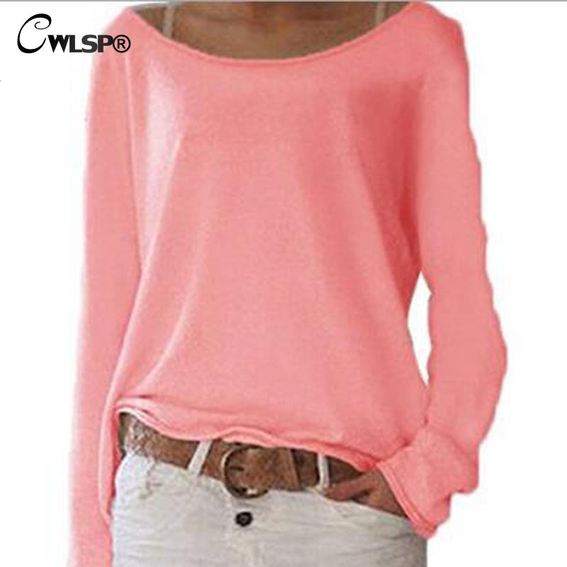 [해외]CWLSP 플러스 사이즈 S-3XL 10 색 솔리드 T 셔츠 여성 긴팔 O 넥 티셔츠 캐주얼 탑스 기본 티 2018 스프링 탑스 QZ2480/CWLSP Plus Size S-3XL 10 colors Solid T shirt Women Long sleeves O