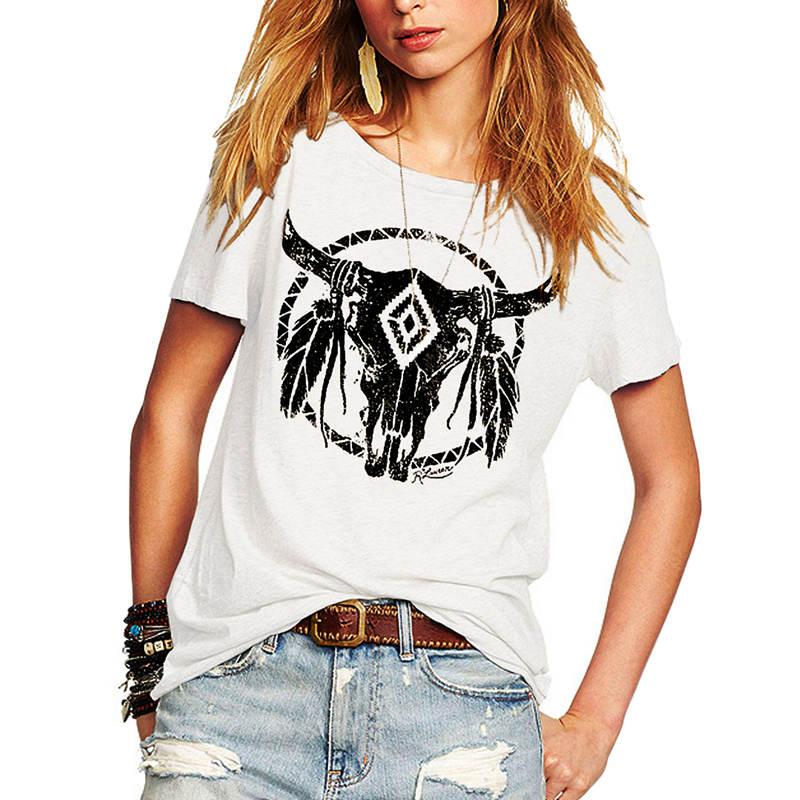 [해외]새 Tshirt 2018 여름 여성 인쇄 T 셔츠 펑크 록 패션 그래픽 유럽 여성 여성 T 셔츠 패션 티/New Tshirt 2018 Summer Women Print T-shirt  Punk Rock Fashion Graphic Top European Fema