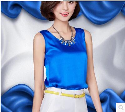[해외]여름 여성 2016 새로운 캐주얼 쉬폰 실크 블라우스 슬림 민Retail O 목 blusa의 feminina 고체 (14) 컬러 셔츠 탑 블라우스/Summer women blouses 2016 new casual chiffon silk blouse slim sl