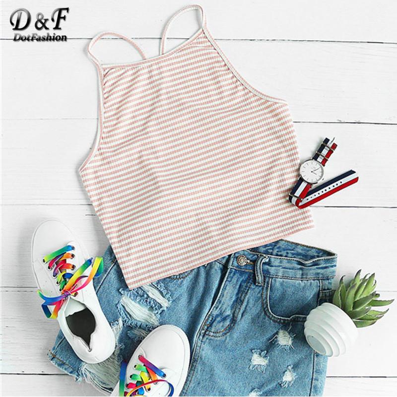 [해외]Dotfashion Y Back Rib 니트 스트라이프 캐미 탑 2017 여름 비치웨어 캐미솔 여성 피트니스 노 슬리브 기본 캐미솔/Dotfashion Y Back Rib Knit Striped Cami Top 2017 Summer Beach Wear Camis