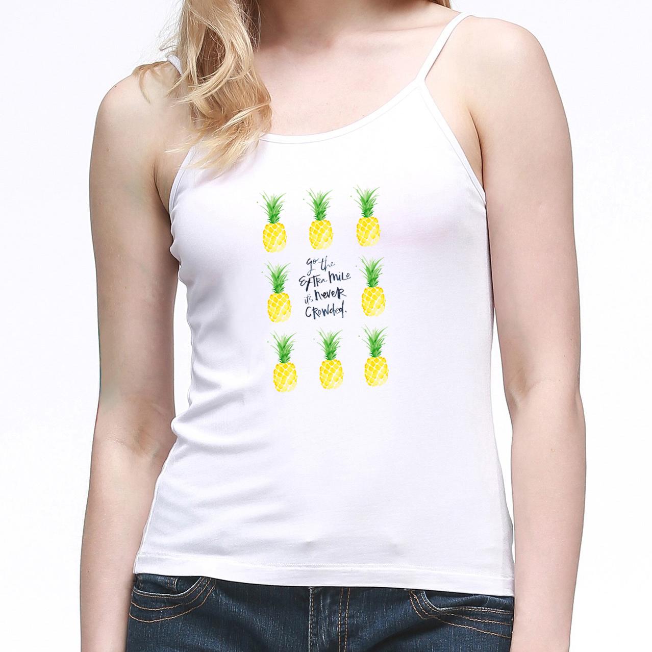 [해외]여성용 캐미솔 민Retail 조끼 파인애플 WiFi Extra Mile It 's Never Crowded 파인애플 거리 Printed Halter Tops Camis/Women Camisole Sleeveless Vest Pineapple WiFi Go