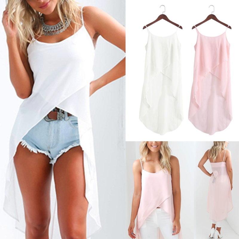 [해외]여름 여성 Camsis 가운 섹시한 캐주얼 슬링 스트랩 쉬폰 비치상의/Summer Women Camsis Robe Sexy Casual Sling Strap Chiffon Beach tops