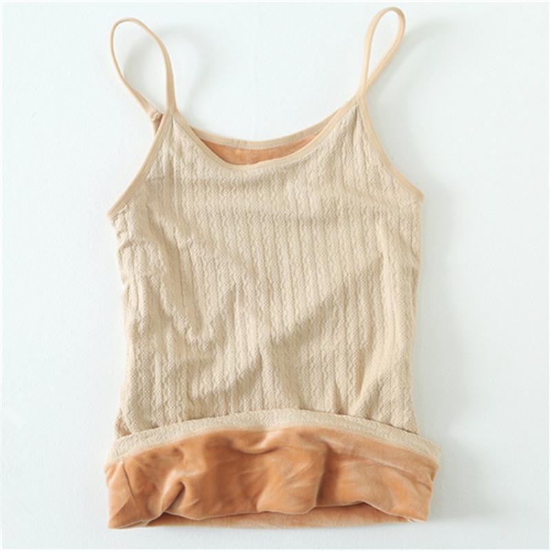 [해외]2018 년 새로운 벨벳 Camis 여성 겨울 두꺼운 꽉 기본 셔츠 여자 정상은 신축성 슬림한 열 온난 한 내복 정상을 꼭대기에 오르십시오/2018 New Velvet Camis Women Winter Thickened Tight Basic Shirt Women
