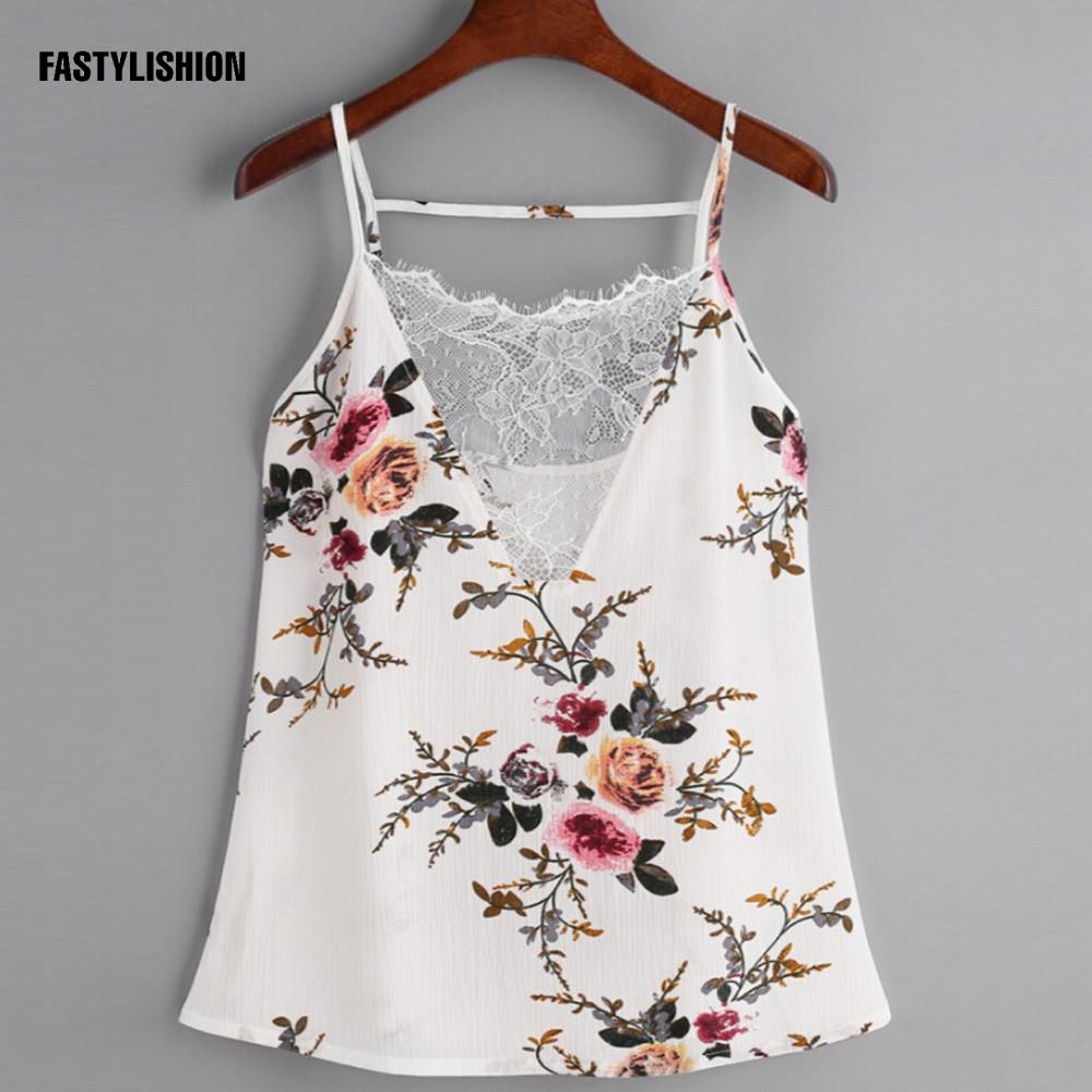 [해외]시폰 조끼 꽃 탱크 탑 여성 캐니스 레이스 조끼 탑 스커트 슬림 시폰 패치 워크 캐주얼 Tee DT07Y129/Chiffon Vests floral tanks top Women Camis Lace Vest Tops Tees Slim Chiffon Patchwor