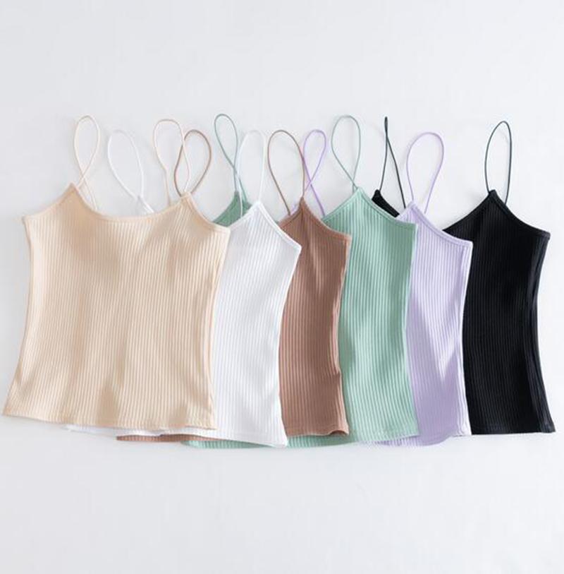 [해외]6 색 자르기 탑 여성 섹시한 길어야 탄성 스트랩 여자 숙녀 탱크 탑 블랙 화이트 퍼플 그린 카키/6 color crop tops women sexy tops Elastic straps womens cropped ladies tank top black white