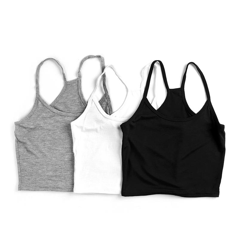 [해외]Mileegirl 3Pcs / Lot 여름 Y 홀터 탱크 탑스, 여성 민Retail 짧은 스트랩 캐미숄, 섹시한 블랙 화이트 그레이 Camis Vest Crop Tops/Mileegirl 3Pcs/Lot Summer Y Halter Tank Tops,Women