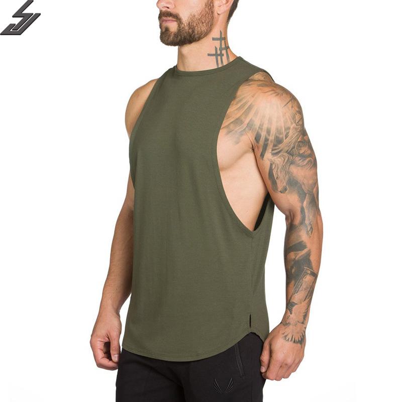 [해외]SJ 2017 브랜드 남성 티셔츠 여름 코튼 슬림 피트 남성 탱크 탑 의류 보디 빌딩 언더 셔츠 골드 피트니스 티셔츠/SJ 2017 Brand mens t shirts Summer Cotton Slim Fit Men Tank Tops Clothing Bodybu