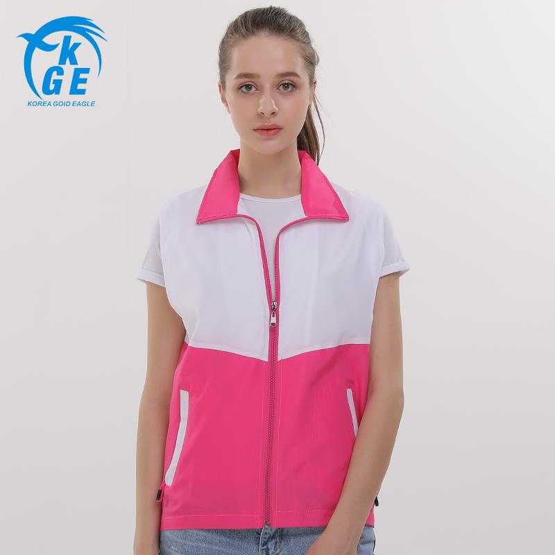 [해외][수  사용자 정의 로고] 여성 대비 컬러 팀 조끼 노동자 양복 조끼 자원 봉사 포켓 디자인 탱크 탑 지퍼 턴 다운 칼라 톱/[Can Custom LOGOS] Women Contrast Color Team Vest Workers Waistcoat Voluntee