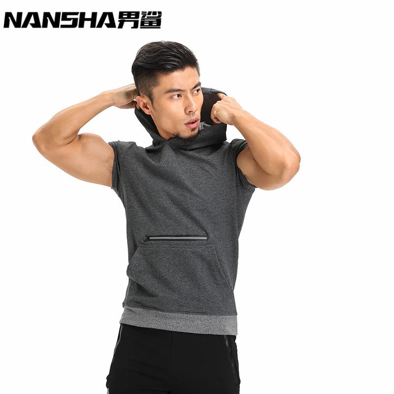 [해외]NANSHA 브랜드 후드 티 탱크 탑 신형 보디 빌딩 세련된 민Retail 후드 티 베스트 멀티 컬러 캐주얼 슬림핏 남성 의류/NANSHA Brand Hooded Tank Top Men New Bodybuilding Stylish Sleeveless Hooded