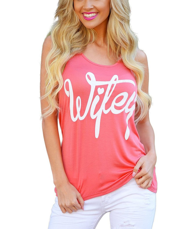[해외]Wifey 레터 프린트 티셔츠 여성 섹시한 민Retail 탑 2017 Summer Ladies Fitness Tank Top 플러스 사이즈 5XL Camiseta Tirantes Mujer/Wifey Letter print t shirt Women Sexy Sl