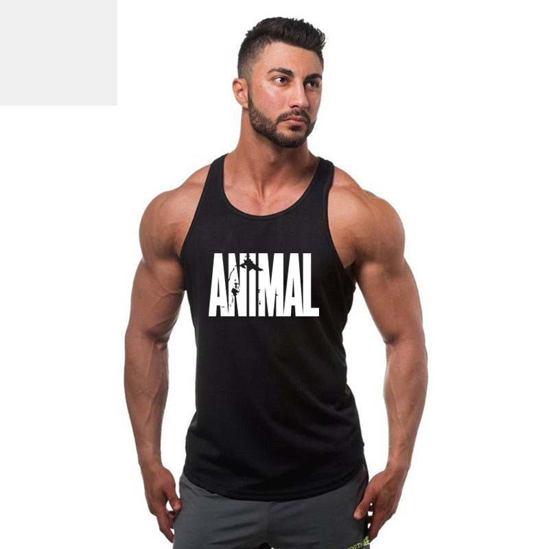 [해외]남자 & 탱크 탑스 여름 코튼 남성 의류 민Retail 바디 빌링 Fitness 남성 캐주얼 탑스 동물 조끼 남성 탱크 탑/Men&s Tank Tops Summer Cotton Men Clothing Sleeveless Body buildling Fitn