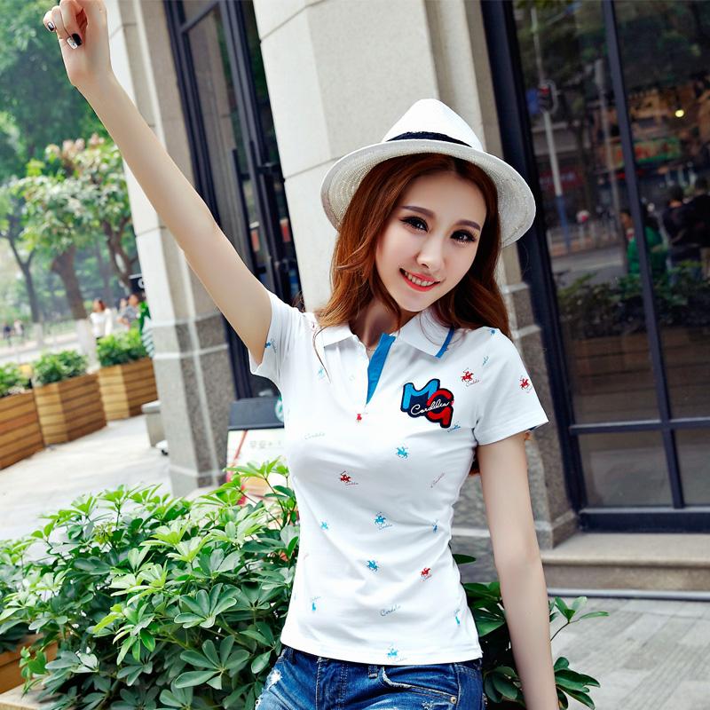 [해외]?달콤한 여성 여성 짧은 Retail 폴로 라프의 팜므 슈발의 데이먼 폴로 hemd 여름 최고 camisa면 폴로 셔츠를 femmes/ sweet Womens Ladies femmes Cotton polo shirts short sleeve polo raph f