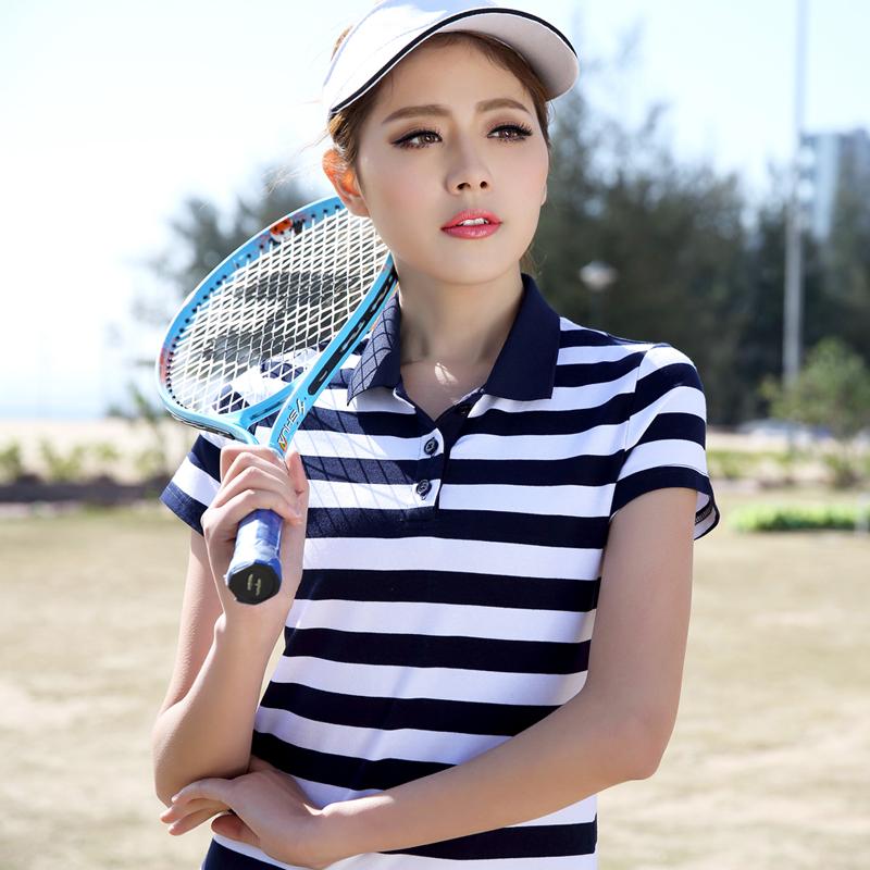 [해외]여성 숙녀 폴로 팜므 라프 골프 셔츠면 폴로 frauen의 슈발의 camisa 스트라이프 폴로 아가씨 플러스 사이즈 주니어 정상 폴로 셔츠/women ladies poloshirt polo femme raph golf shirt cotton polo frauen