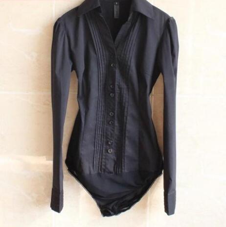 [해외]2016 핫 여성 새로운 겨울 V - 목 - 긴팔 블랙 버클 전문 여성 샴 셔츠 한국 슬림 대형 셔츠/2016 hot Women new winter V-neck long-sleeved black buckle professional female Siamese sh