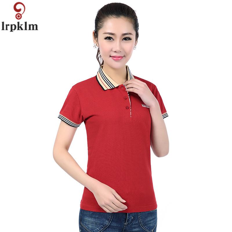 [해외]브랜드 캐주얼 스타일 여성 짧은 Retail 단단한 코 튼 폴로 셔츠 봄 여름 여성 폴로 셔츠 여성 플러스 크기 3XL YY627/Brand Casual Style Female Short Sleeve Solid Pure Cotton Polo Shirts Spri