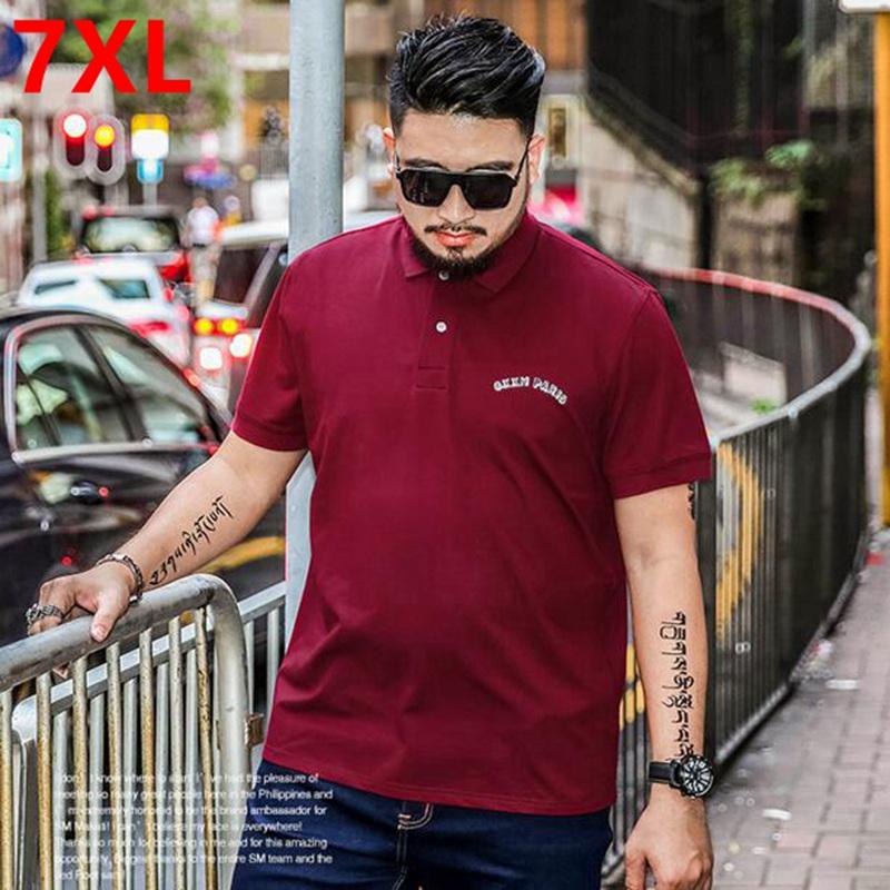 [해외]여름 비즈니스 빅 사이즈 폴로 셔츠 XL 폴로 옷깃 지방의 고형 지방 남성 플러스 사이즈 7XL 6XL 5XL 4XL/Summer business Big Size Polo Shirt XL polo Lapel fat elastic solid fat male Plu
