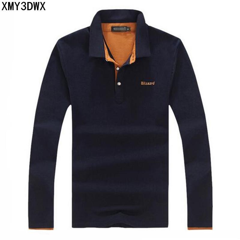 [해외]2017 남성과 부티크 가을 슬림 맞는 레저 사업 긴 Retail 폴로 셔츠 / 남성 고급 순수한 면화 레저 폴로 셔츠/2017 men&s boutique autumn slim fit leisure business long sleeve polo shirts/Ma