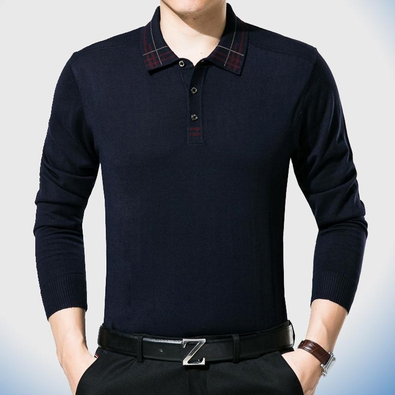 [해외]2017 캐주얼 긴 Retail 비즈니스 남성 셔츠 디자이너 남성 폴리스 남성 캐주얼 솔리드 패션 브랜드 폴로 셔츠 70137/2017 casual long sleeve business mens shirts male solid fashion brand polo