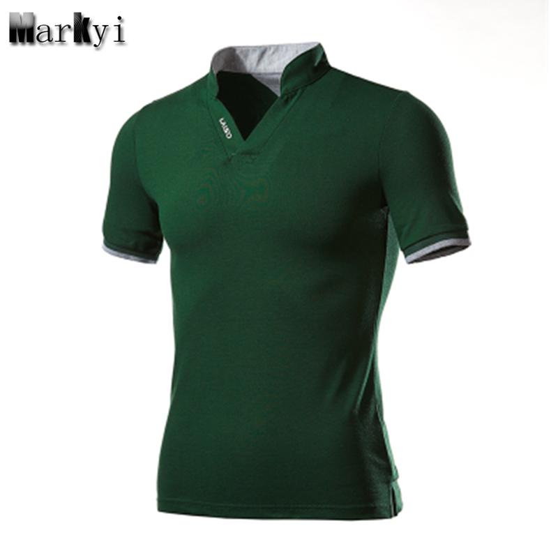 [해외]Markyy 플러스 사이즈 5xl 짧은 슬리브 턴 다운 칼라 남성 폴로 셔츠 여름 Camisa Polo Men Slim Fit/MarKyi plus size 5xl Short Sleeve Turn-Down Collar Mens Polo Shirts  Summer