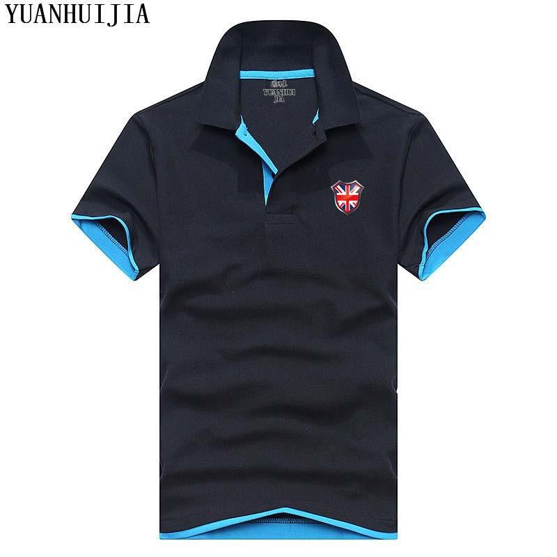 [해외]영국 국기 인쇄 플러스 크기 XS-3XL 브랜드 뉴 남성 & s 폴로 셔츠 남성 짧은 Retail 코 튼 셔츠 유니폼 폴로 셔츠/British flag print Plus Size XS-3XL Brand New men&s polo shirt men sho