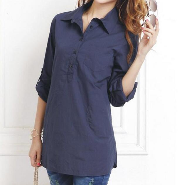 [해외]M-4XL Hot 2017 봄 여성 새로운 패션 긴 면화 긴 Retail 셔츠 플러스 크기 여유가 하나의 도덕을 육성/M-4XL Hot 2017 Spring Women New Fashion long cotton long sleeve shirt plus-size