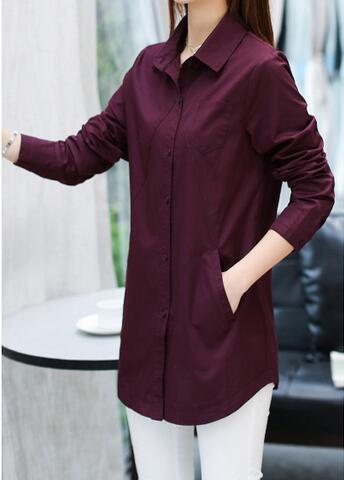 [해외]XL-6XL 핫 2017 봄 여성 새로운 패션 ure 면화 셔츠 여성 긴 Retail 더 큰 크기와 레저 + 캐시미어/XL-6XL Hot 2017 Spring Women New Fashion ure cotton shirts women long sleeve big