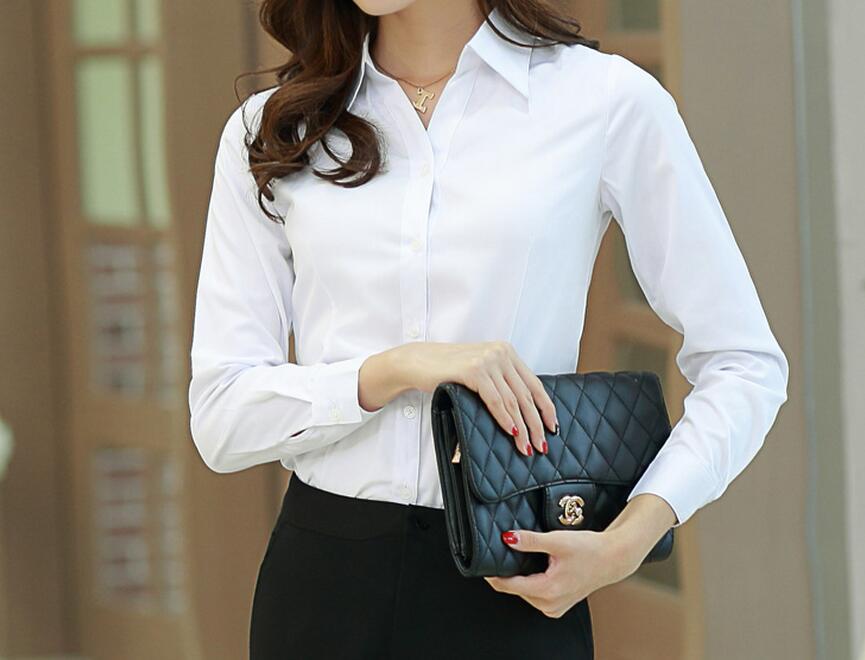 [해외]S-5XL Hot 2017 봄 여성 새로운 패션 흰색 긴팔 V 넥 셔츠의 큰 야드는 하나의 도덕성 쇼 얇은 셔츠를 육성/S-5XL Hot 2017 Spring Women New Fashion Big yards of white long-sleeved v-neck