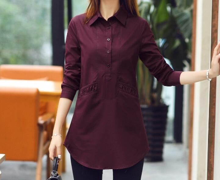 [해외]XL - 6XL 핫 2017 봄 여성 새로운 패션 + 캐시미어 순수 면화 셔츠 여성 긴 Retail 더 큰 크기와 레저 셔츠/XL-6XL Hot 2017 Spring Women New Fashion +Cashmere Pure cotton shirts women