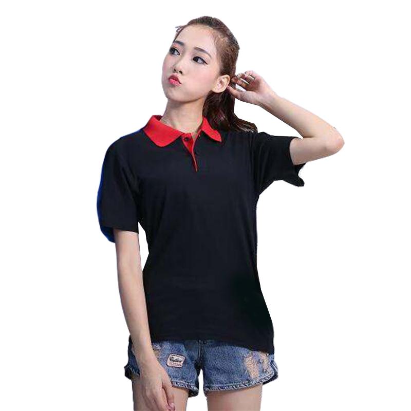 [해외]브랜드 여성 폴로 셔츠 2017 새로운 캐주얼 통기성 패치 워크 숙녀 폴로 플러스 사이즈 여성 짧은 Retail 코튼 폴로 셔츠 XXXL/Brand Women Polo Shirt 2017 New Casual Breathable Patchwork Ladies Po