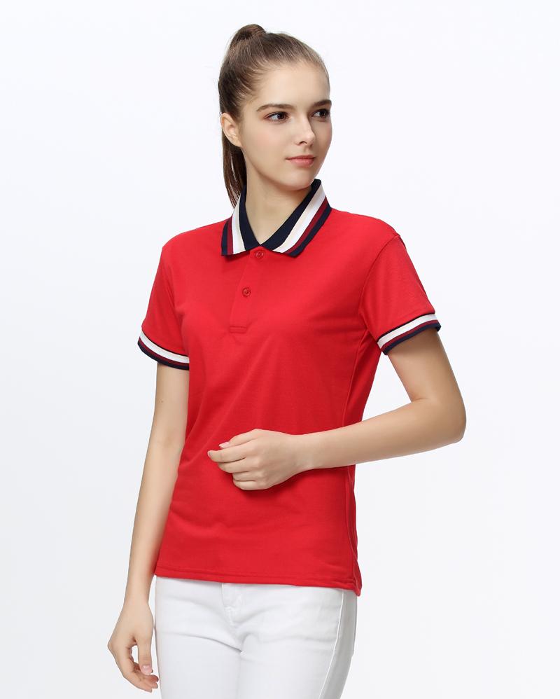 [해외]브랜드 의류 2017 플러스 사이즈 여름 여성 폴로 셔츠 사용자 정의 로고 인쇄 된 여성 짧은 Retail 캐주얼 셔츠 레이디 폴로 옴므/Brand Clothing 2017 Plus Size Summer Women Polo Shirt Custom Logo Pri