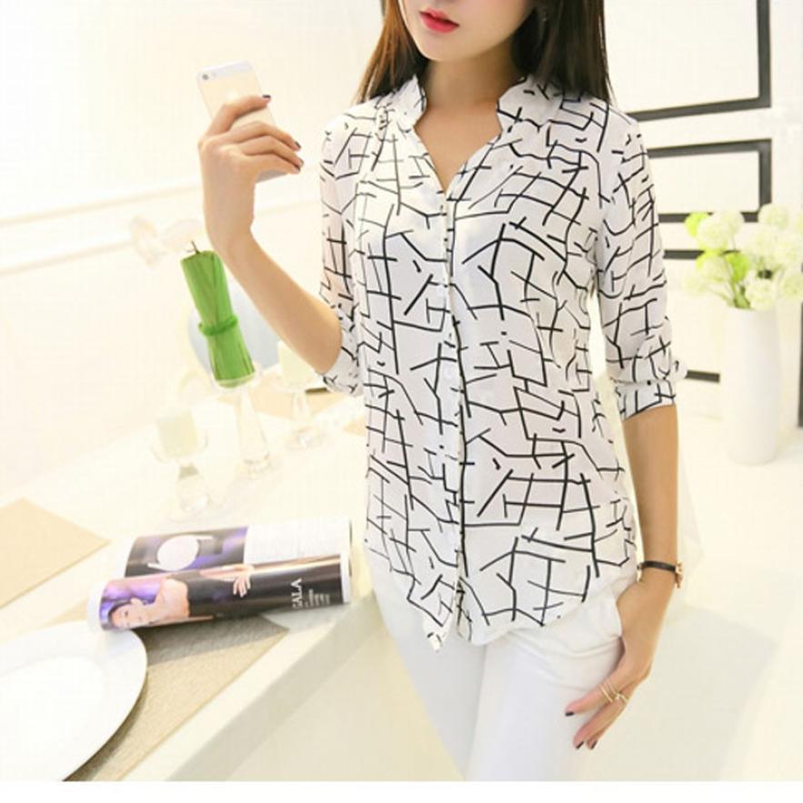 [해외]MUQGEW 패션 여성 & 우아한 긴 Retail 인쇄 쉬폰 패션 슬림 옷 아름 다운 매력적인 폴로 셔츠/MUQGEW New Arrival Fashion Women&s Elegant Long-sleeve Print Chiffon Fashion Slim C