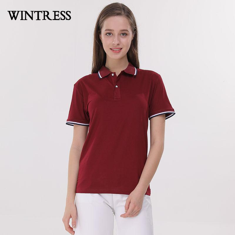 [해외]WINTRESS Can 맞춤형 플러스 사이즈 솔리드 여성 폴로 반Retail 색 반전 칼라 여름 캐주얼 스타일 여성 탑/WINTRESS Can Custom Plus Size Solid Women Polo Short Sleeve Contrast Color Turn