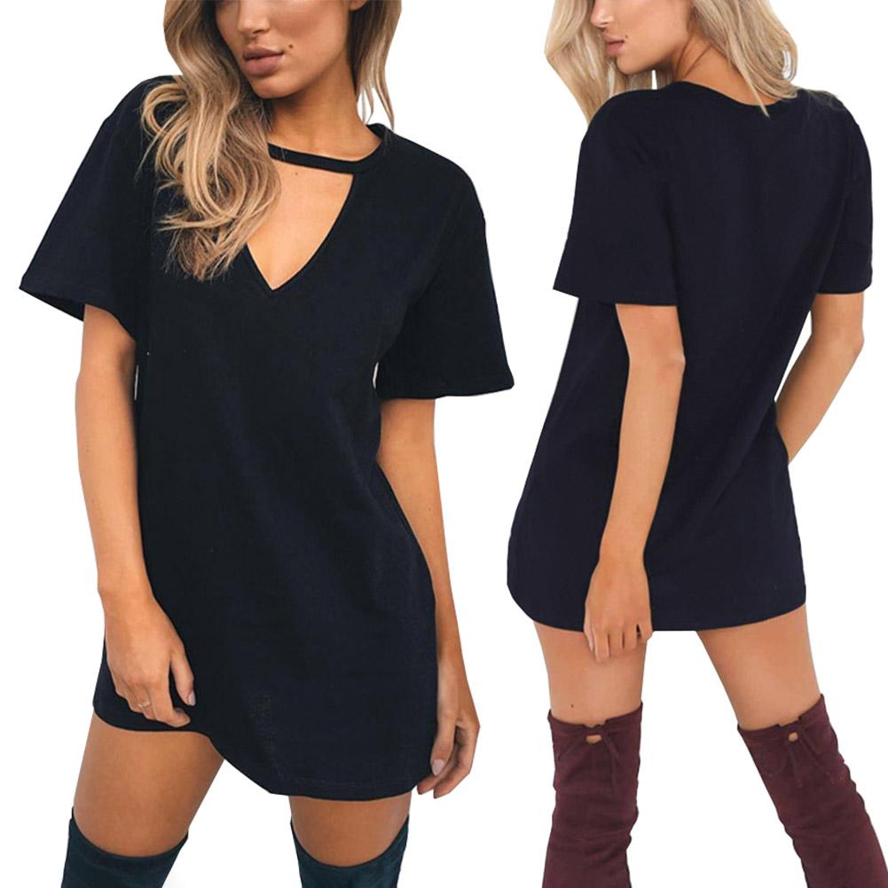 [해외]여성 여름 드레스 짧은 Retail V 넥 섹시한 캐주얼 드레스 레이디 오피스 착용을Vestidos Solid Fashion Dress/Women Summer Dress Short-sleeve V Neck Sexy Casual Dresses For Lady Of