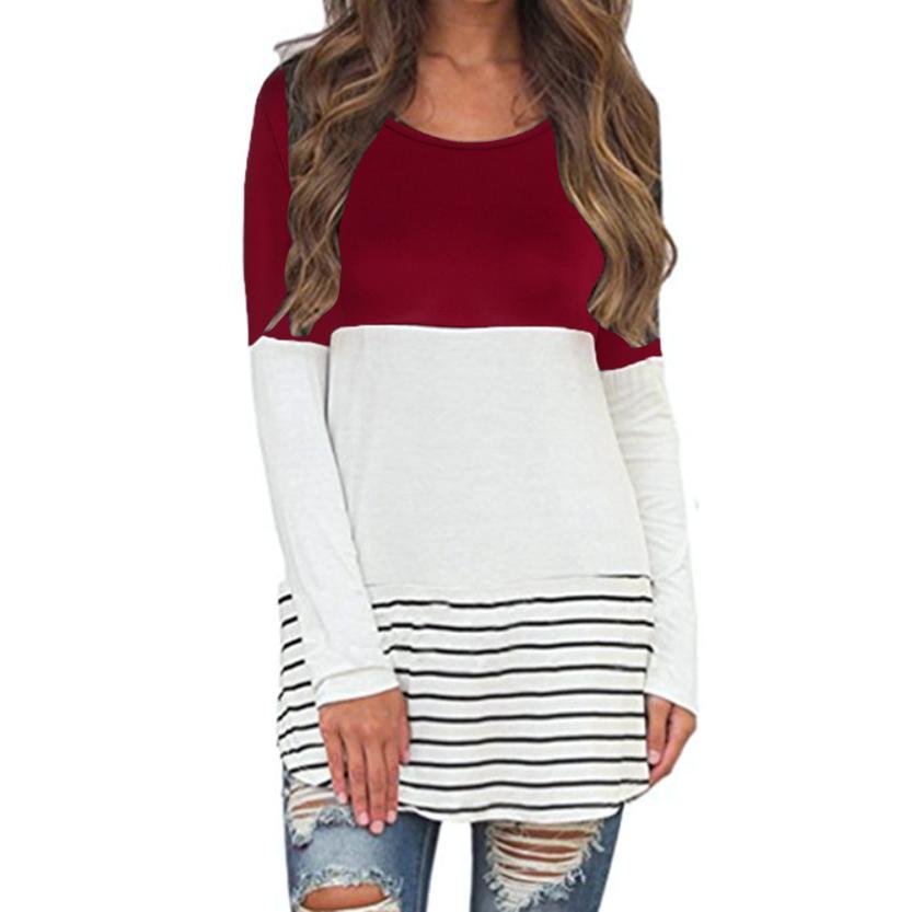 [해외]?MUQGEW 여성의 패션을 뒤덮는 레이스 컬러 블록은 긴 매력적인 최신 Retail 탑스를 꼭대기에 오릅니다./ MUQGEW  Fancinating Women&s Fashion Back Lace Color Block Tops Long Attractive New