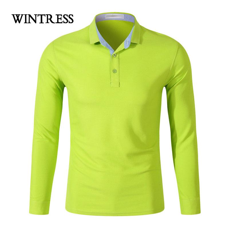 [해외]WINTRESS 수  맞춤 로고 여성 / 남성 폴로 가을 겨울 캐주얼 자연 색상 긴 Retail 티 플러스 크기 UniClothes/WINTRESS Can Custom Logo Women/Men Polo Autumn Winter Casual Natural Col