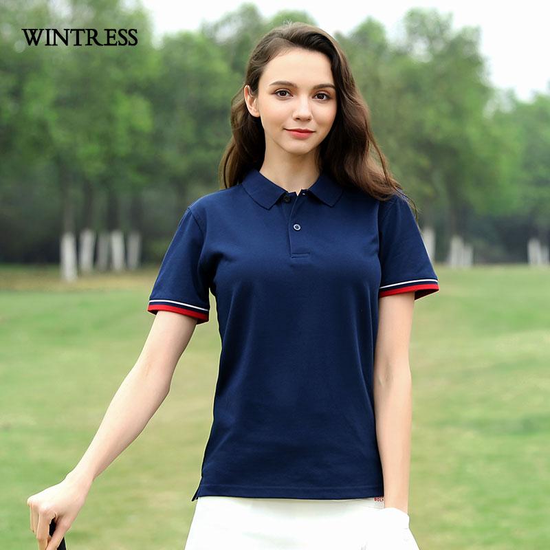 [해외]WINTRESS 플러스 사이즈 여성 짧은 Retail 폴로 셔츠 봄 여름 코 튼 위쪽 단색 캐주얼 여성 폴로 수 사용자 정의 그림/WINTRESS Plus Size Women Short Sleeve Polo Shirt Spring Summer Cotton Top