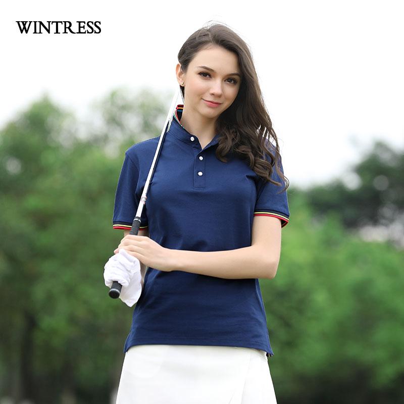 [해외]WINRESS 수 사용자 정의 로고 여성 캐주얼 긴 Retail 스트라이프 컬러 매칭 여름 슬림 Mujer 폴로 셔츠/WINRESS Can Custom Logo Women Top Casual Long Sleeve Striped Color Matching Summ