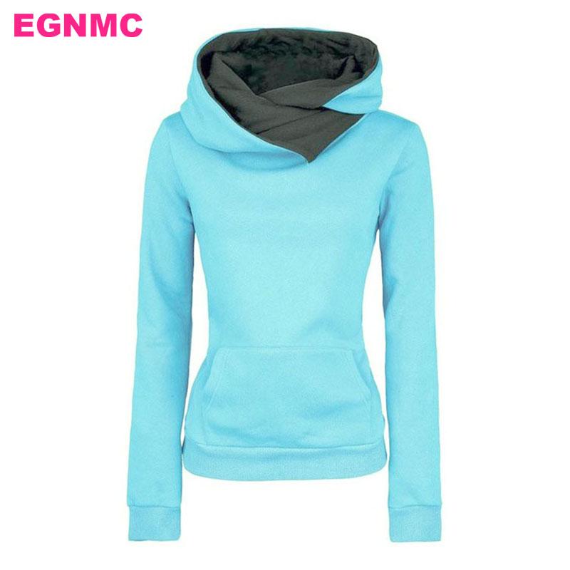 [해외]EGNMC 가을 겨울 여성 캐주얼 후드 티 후드 폴로 셔츠 옷깃 플리스 포켓 여성 & 폴로 셔츠 따뜻한 Sudaderas Mujer/EGNMC Autumn Winter Women Casual Hooded Hoodies Polo Shirt Lapel Fle