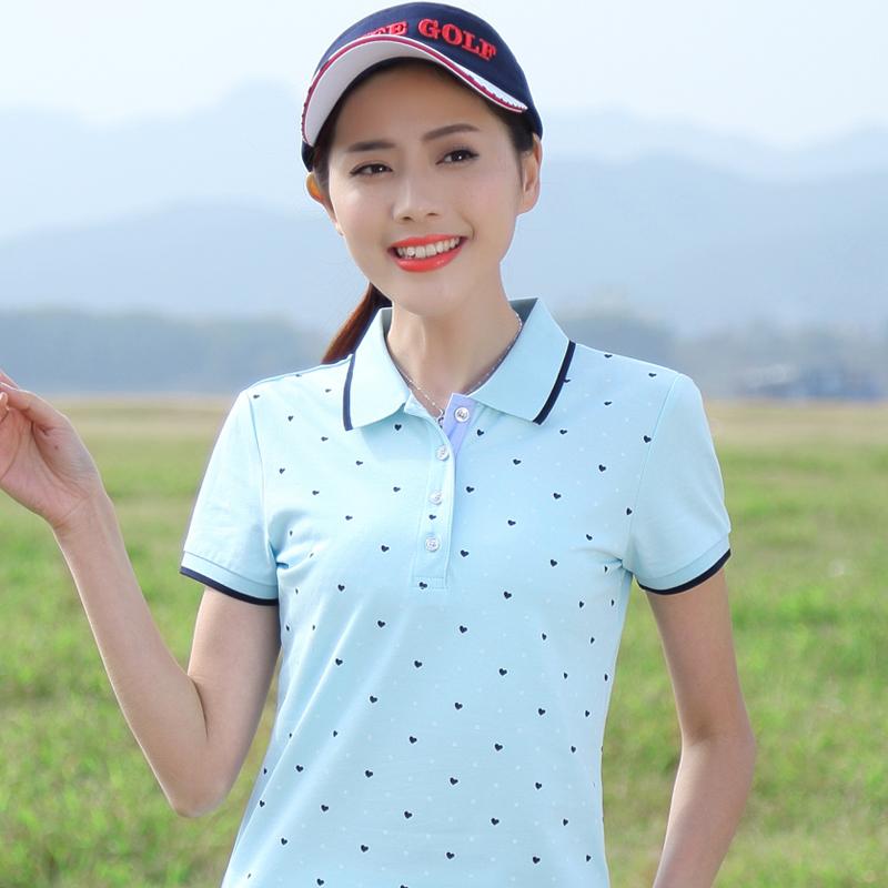 [해외]여성 & 폴로 2018 봄 여름 새 여성 & 옷깃 면화 슬림 폴로 여성 반팔 패션 T2071/women&s polo 2018 spring summer new women&s lapel cotton Slim polo women Short-sleeved