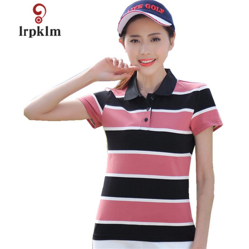 [해외]2018 새로운 여성 & 여름 폴로 셔츠 숙 녀 캐주얼 플러스 크기 코 튼 폴로 여성 줄무늬 짧은 Retail POLOS 4Color PQ336/2018 New  Women&s Summer Polo Shirts Ladies Casual Plus Size