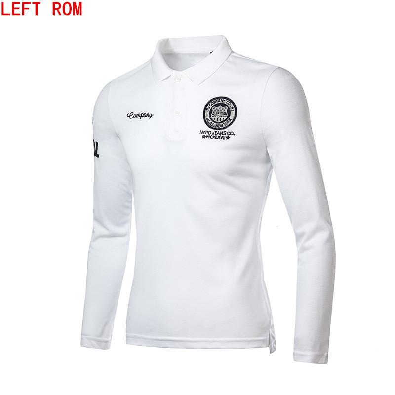 [해외]새로운 2017 패션 브랜드 의류 폴로 옴 솔리드 폴로 셔츠 캐주얼 남성 티 셔츠 탑 코튼 슬림 맞는 폴로 셔츠/New 2017 Fashion Brand Clothing Polo Homme Solid Wholesale Polo Shirt Casual Men Te