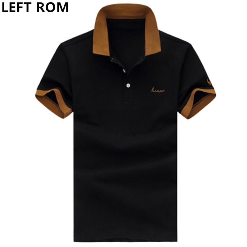[해외]LEFT ROM 브랜드 2018 신 남성 티셔츠 남자 단색 남성 POLO 셔츠 반투명 통기성 패션 레저 폴로 셔츠 S-5XL/LEFT ROM Brand 2018 New Men Polo Shirt Man Solid color male POLO shirt Short