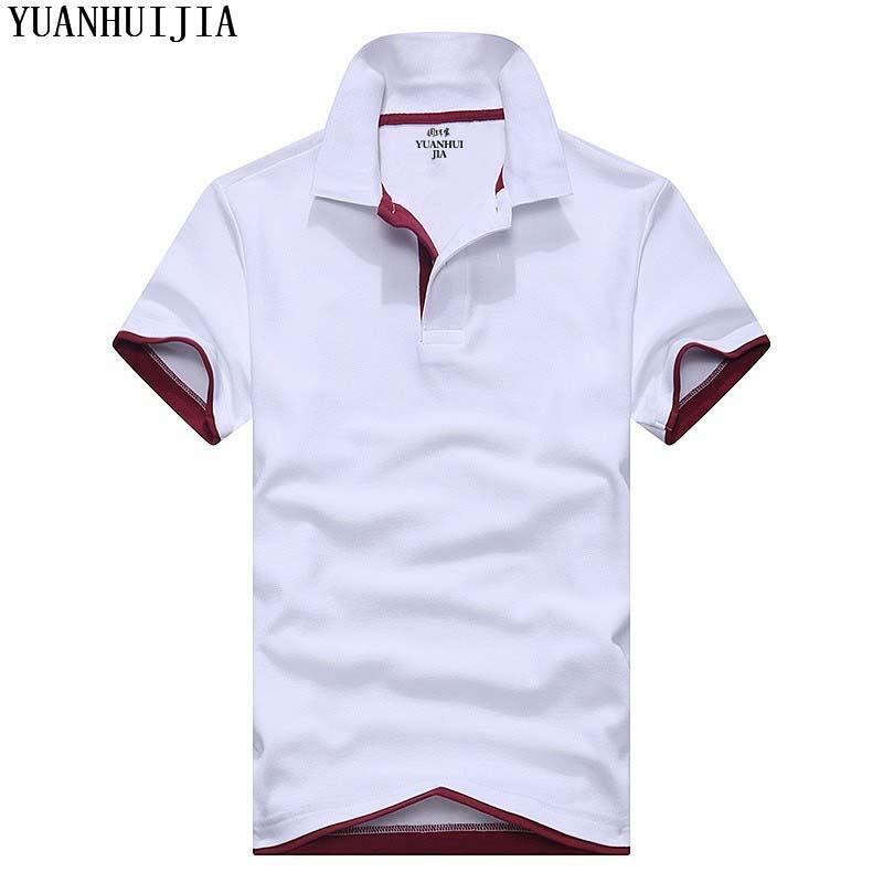 [해외]?남성 폴로 셔츠 브랜드 남성 솔리드 컬러 폴로 셔츠 Camisa Masculina 남성 & 캐주얼 코튼 반팔 티셔츠 셔츠/ Men Polo Shirt Brand Mens Solid Color Polo Shirts Camisa Masculina Men&s