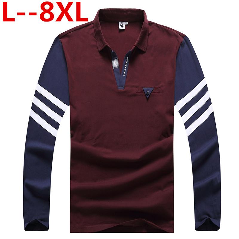 [해외]플러스 사이즈 10XL 8XL 9XL 6XL 남성 폴로 셔츠 브랜드 2018 남성 긴 Retail 패션 캐주얼 느슨한 솔리드 자수 폴로 남성 유니폼/plus size 10XL 8XL 9XL 6XL Mens Polo Shirt Brands 2018 Male Lon