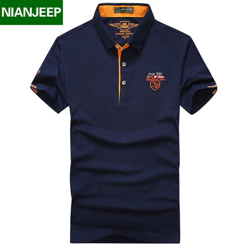 [해외]NIANJEEP 브랜드 Summer Mens Solid POLO Shirts 품질 남성면 코스트 캐주얼 반Retail 티셔츠 옴므 Camisa M-4XL 큰 사이즈/NIANJEEP brand Summer Mens Solid POLO Shirts Quality M