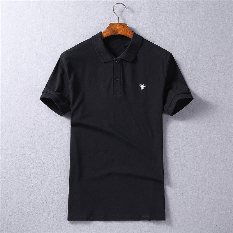 [해외]2018 브랜드 벌 자 수 망 폴로 셔츠 패션 패턴 짧은 Retail 스트레이트 100 % 코 튼 폴로 남성 4 색/2018 Brand Bee Embroidery Mens Polo Shirts Fashion Pattern Short Sleeve  Straight